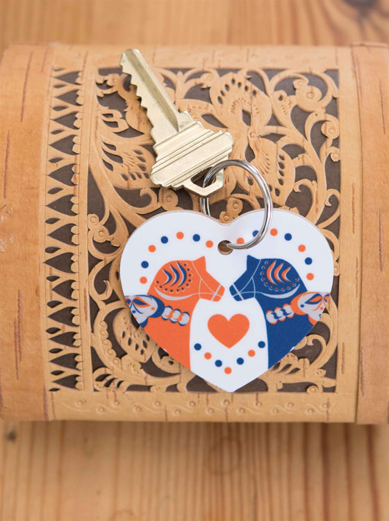 Picture of Birch Dala Horse Keyring