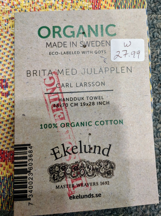 Picture of Ekelund Britamed Julapplen Linen