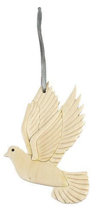 Picture of Dove Intarsia Wood Ornament