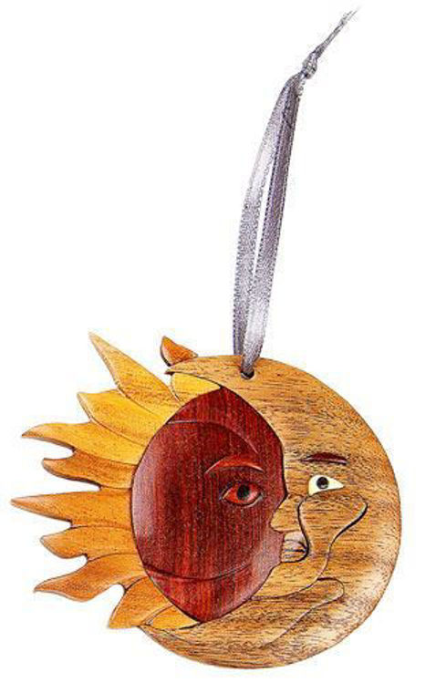 Picture of Eclipse Intarsia Wood Ornament
