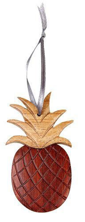 Picture of Pineapple Intarsia Wood Ornament