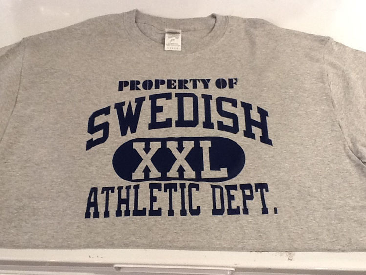 "Picture of ""Property of Swedish Athletic Dept."" T-Shirt"