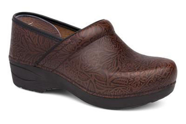 Picture of Dansko Professional 2.0, Floral Tooled, Brown