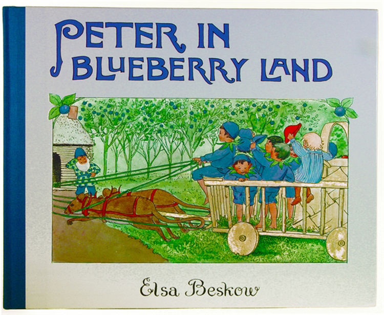 Picture of Peter in the blue Berry Land (Large), Elsa Beskow