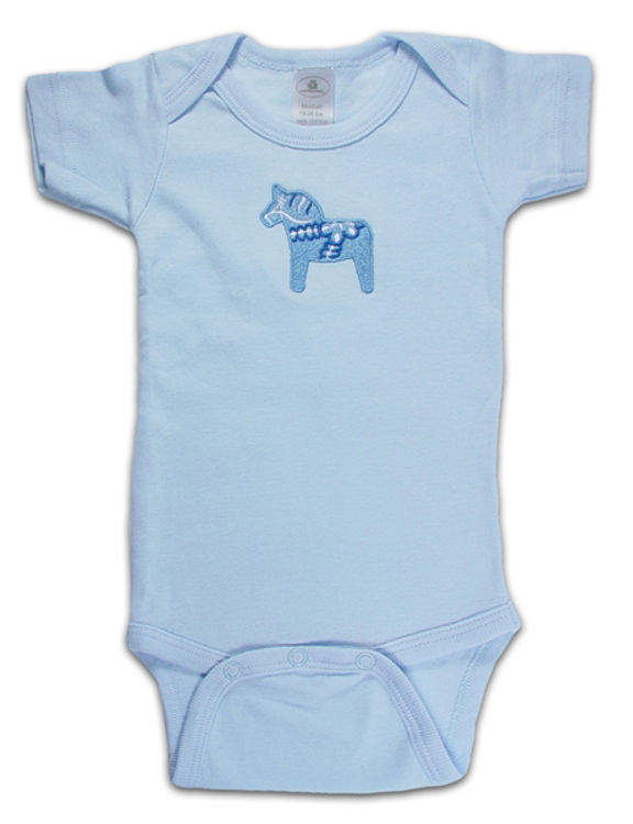 Picture of Blue Dala Horse Baby Onesie
