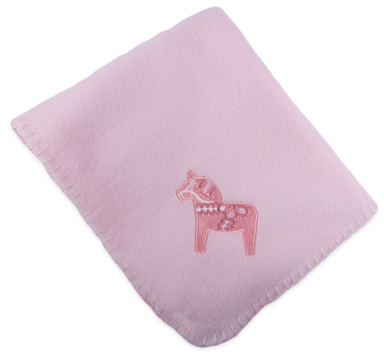 "Picture of Dala Horse Fleece Blanket (Pink, 30""X36"")"