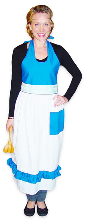 Picture of Pinafore (White and Blue)