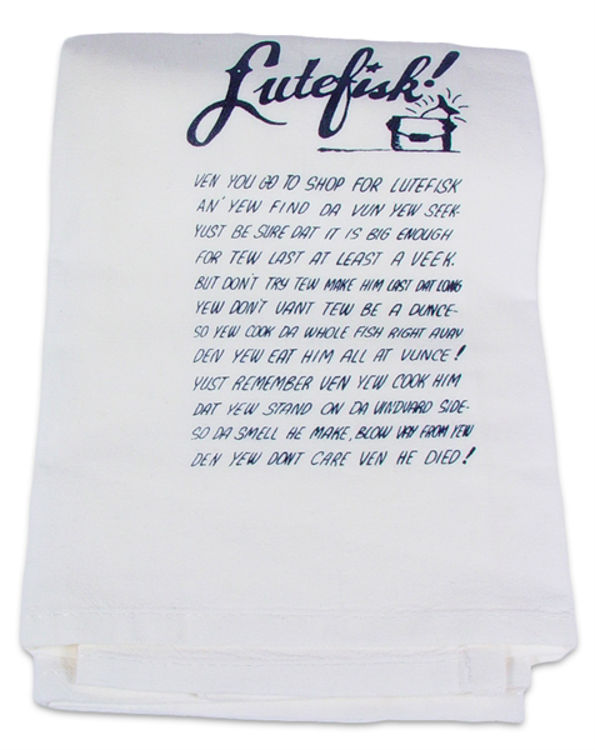 Picture of Lutefisk Dish Towel