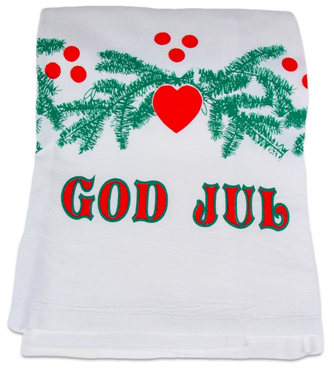 Picture of God Jul Dish Towel (Red and Green)