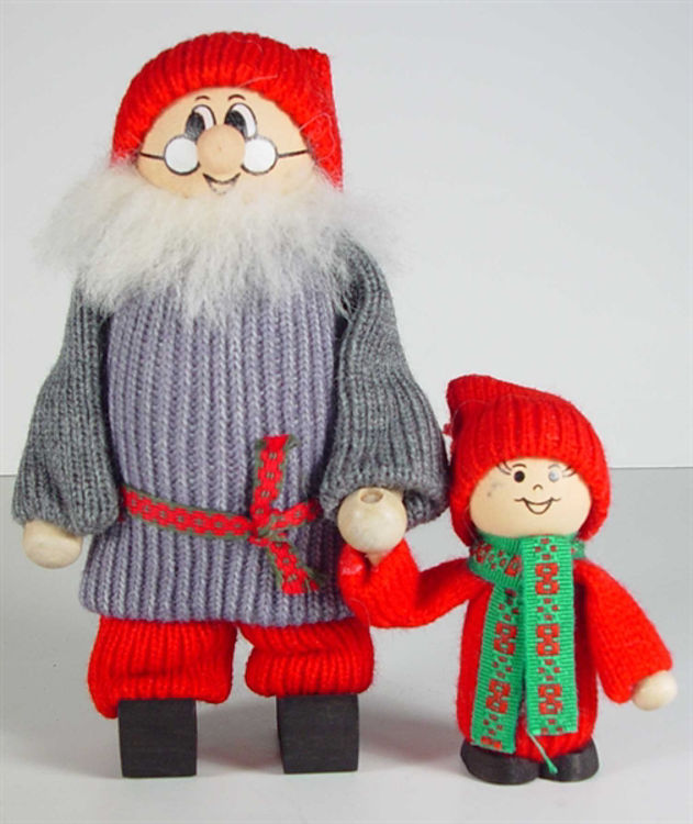 Picture of Tomtes Santa Holding Kids Hand