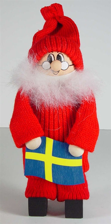 Picture of Tomtes Santa Holding Flag (7in.)