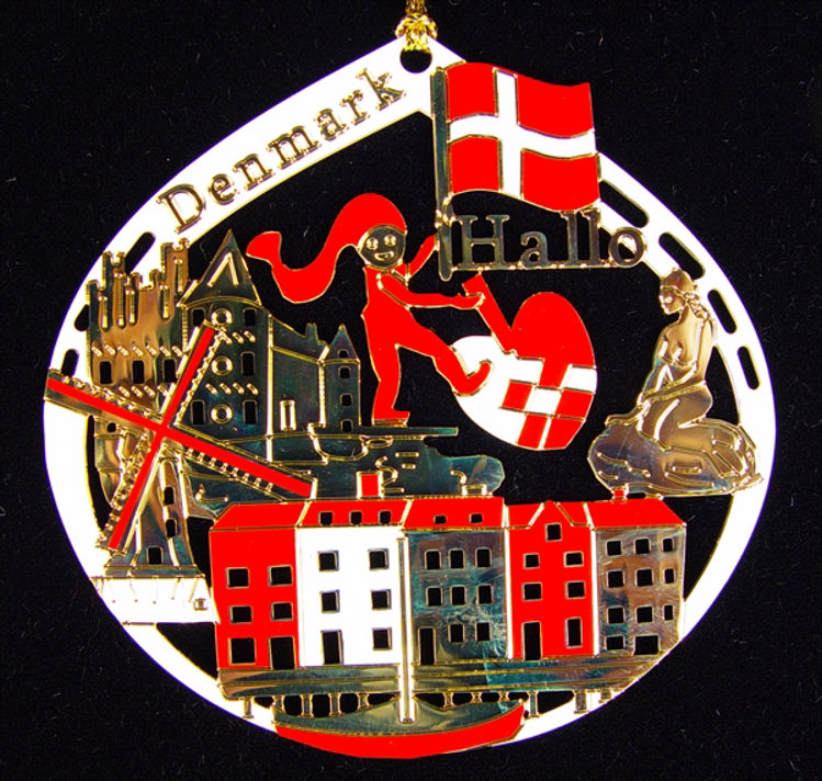 Picture of Denmark Gold Plated Ornament