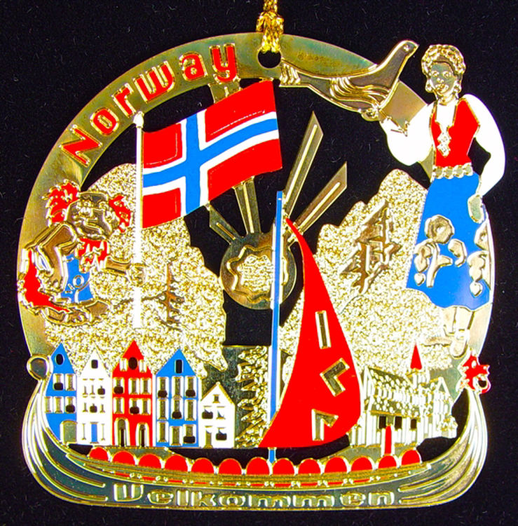 Picture of Norway Gold Plated Ornament