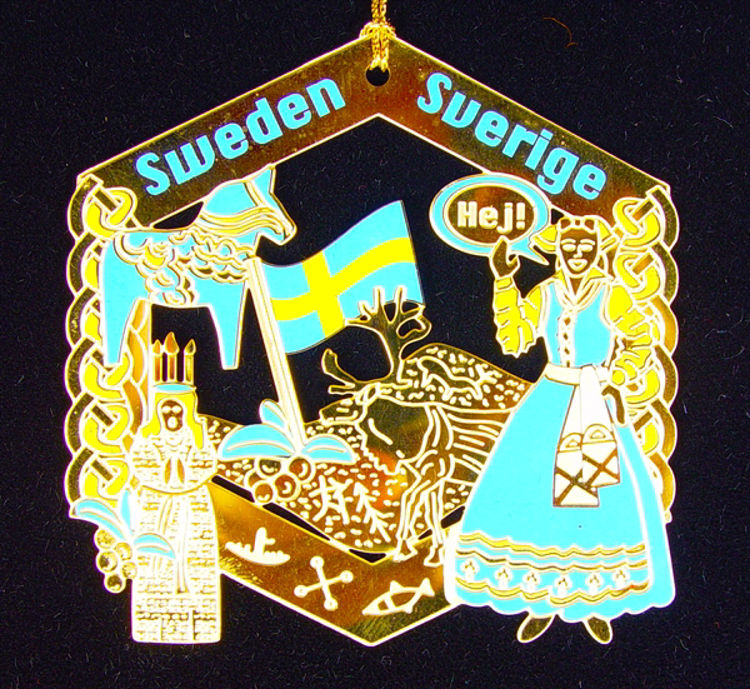 Picture of Sweden Gold Plated Ornament