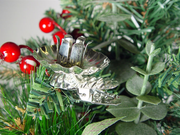 Picture of Silver Christmas Tree candle holder