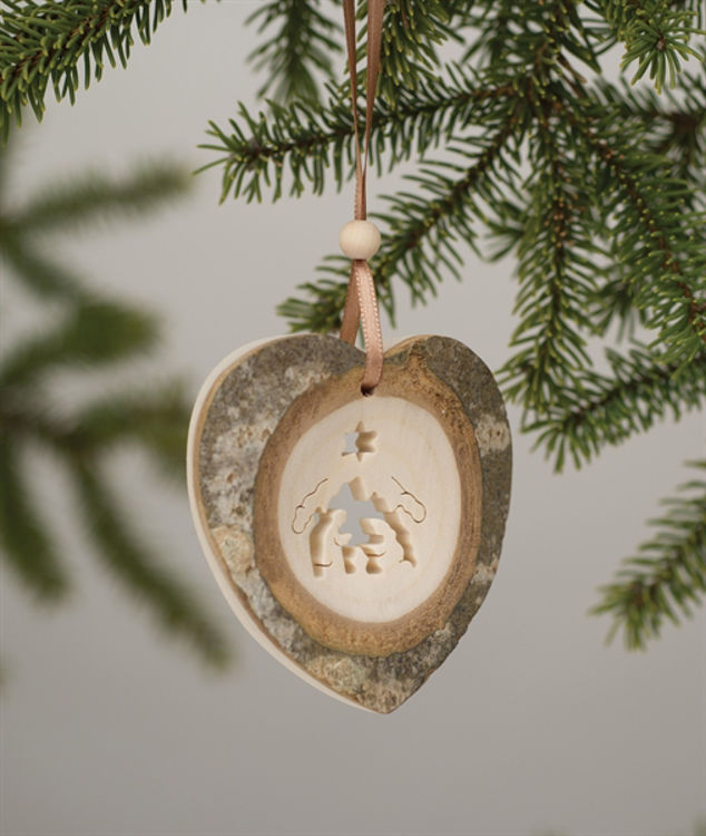 Picture of Tree Bark Heart Ornaments