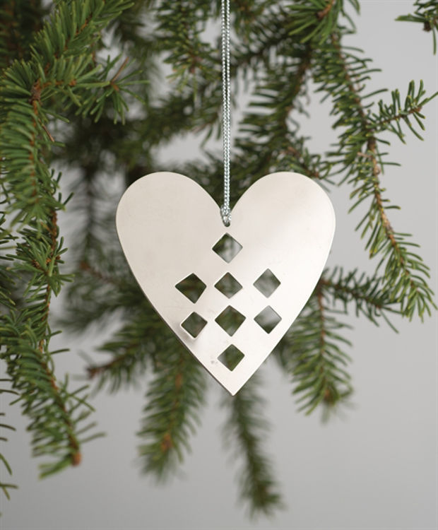 Picture of Chrome-finished Heart Ornament