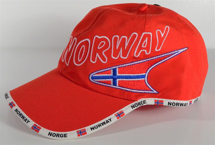 Picture of Norwegian Bike Hat, Blue or Red