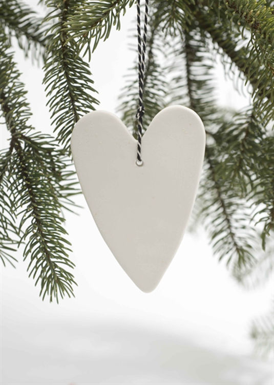 Picture of Porcelain  Danish Ornaments, Heart & Bear