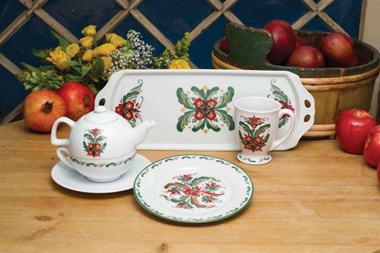 Picture of Sonja Green Rosemaling Ceramics, Side Plate