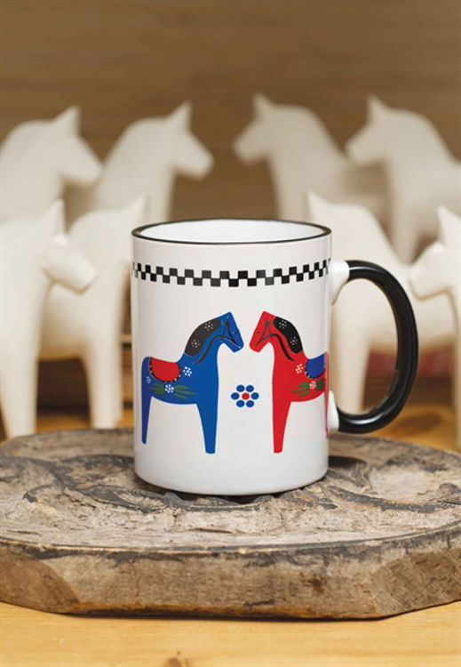Picture of Rooster Mug & Vintage Dala Horse