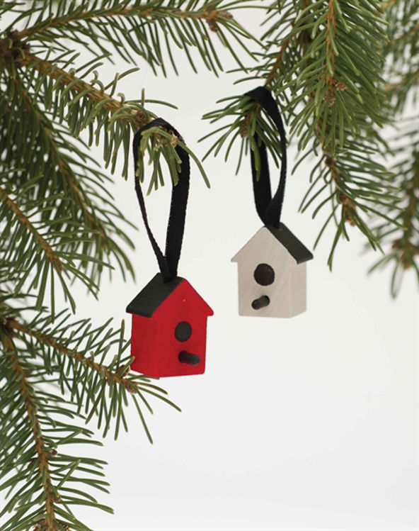 Picture of Wooden Bird House Ornaments