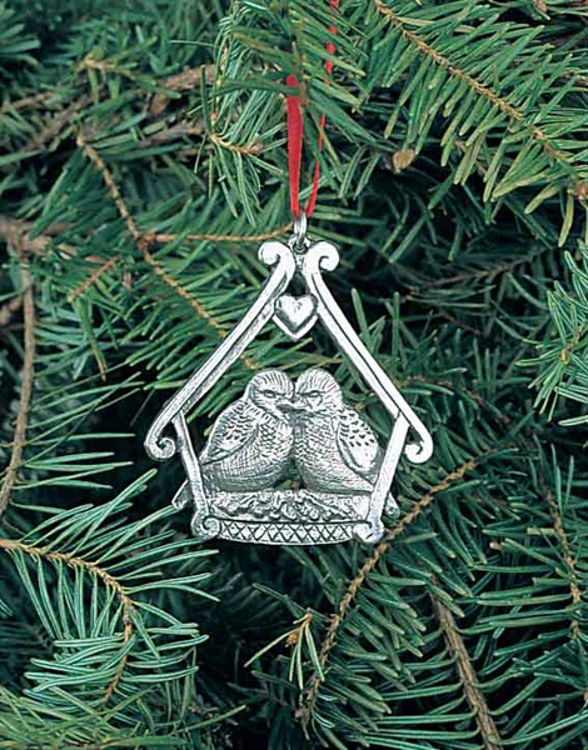 Picture of Pewter Love Bird Ornament