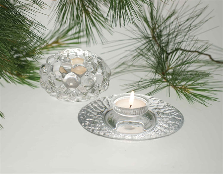 Picture of Orrefors Raspberry Votives