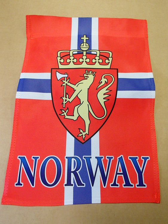 Picture of Norwegian Garden Flag with Crest