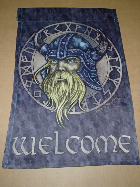 Picture of Viking, (Runic) Garden Flag with Welcome