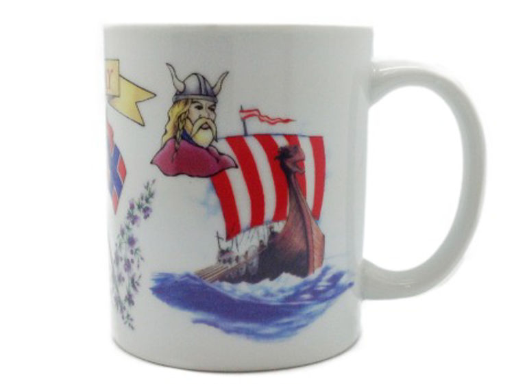 Picture of Norway Mug, with Viking and Viking Ship
