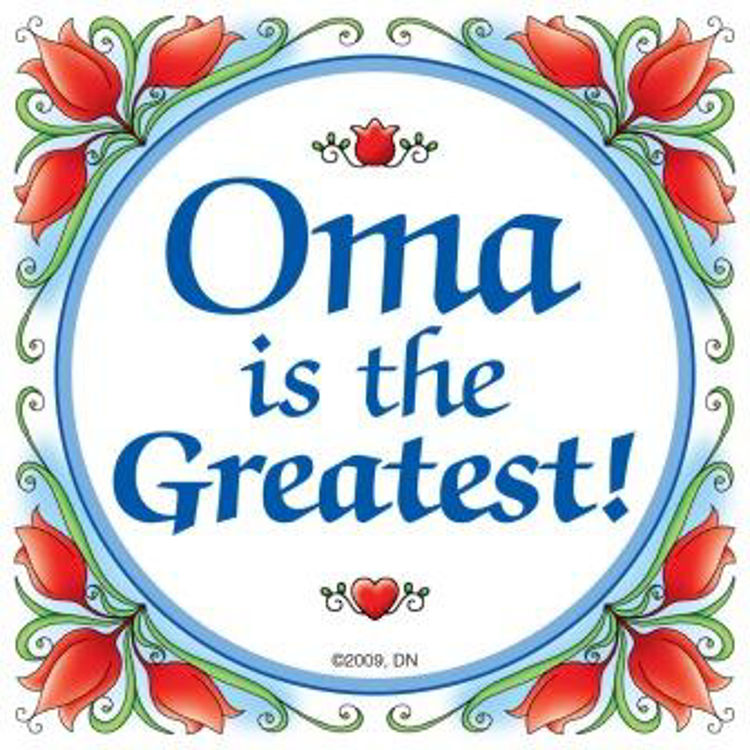 Picture of Oma is the Greatest Tile, with flowers