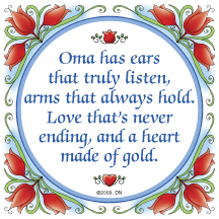 Picture of Oma Poem Tile