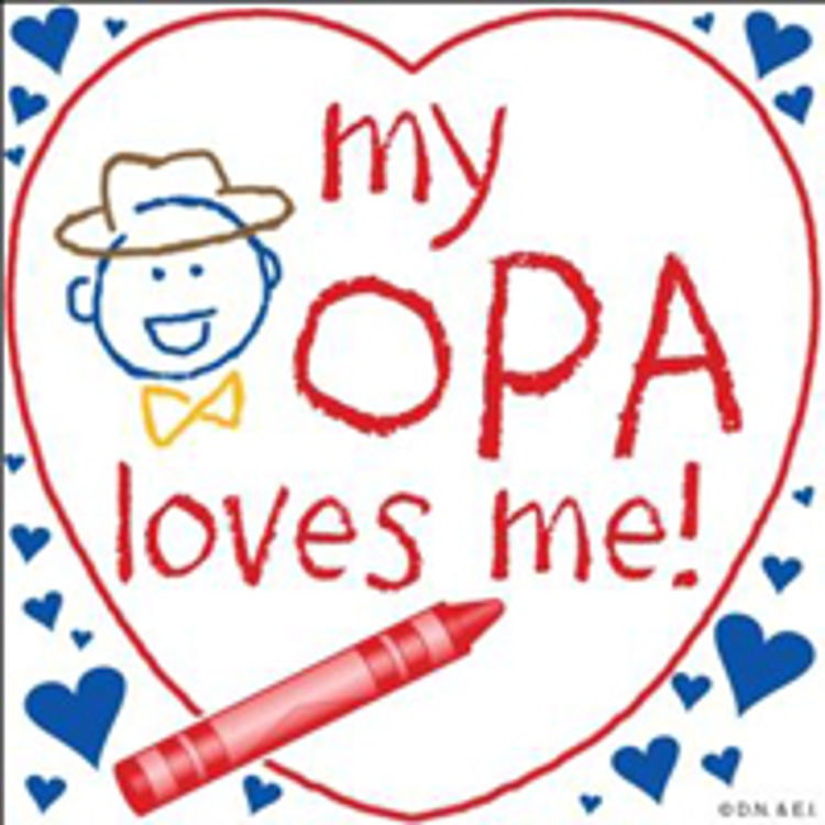 Picture of Opa Loves Me Crayon Tile