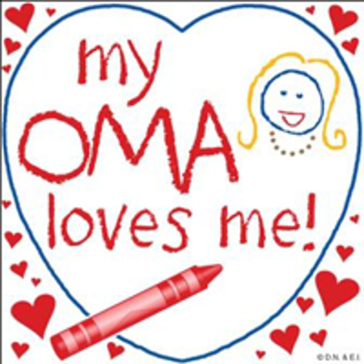 Picture of Oma Loves Me Crayon Tile