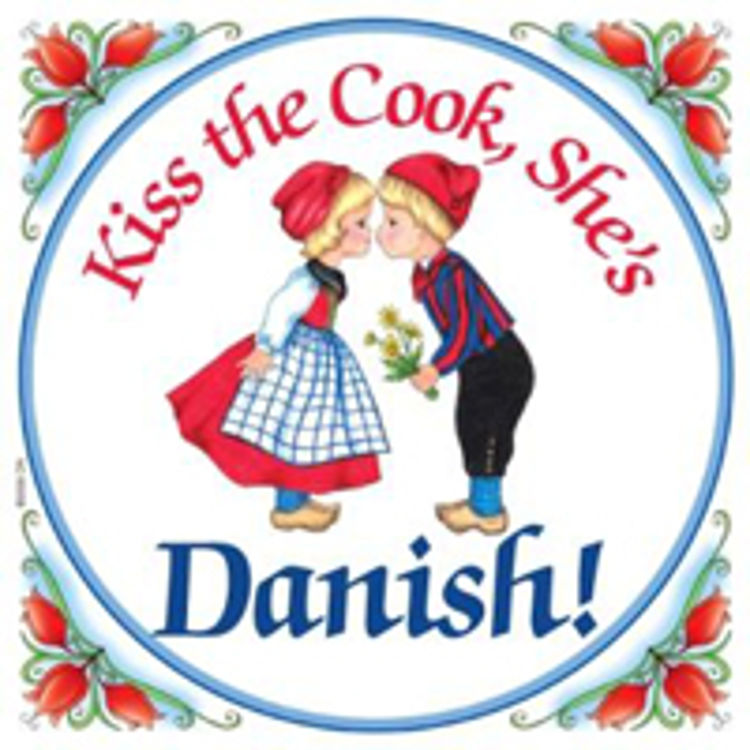 Picture of Kiss the Cook Danish Tile