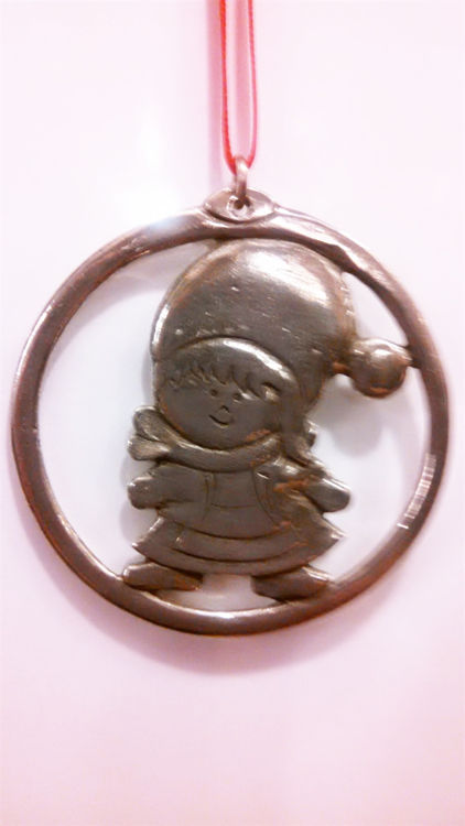Picture of Norwegian Pewter Ornament, Girl & Boy