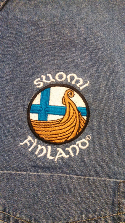 Picture of Finnish Long Sleeve Denim Shirt