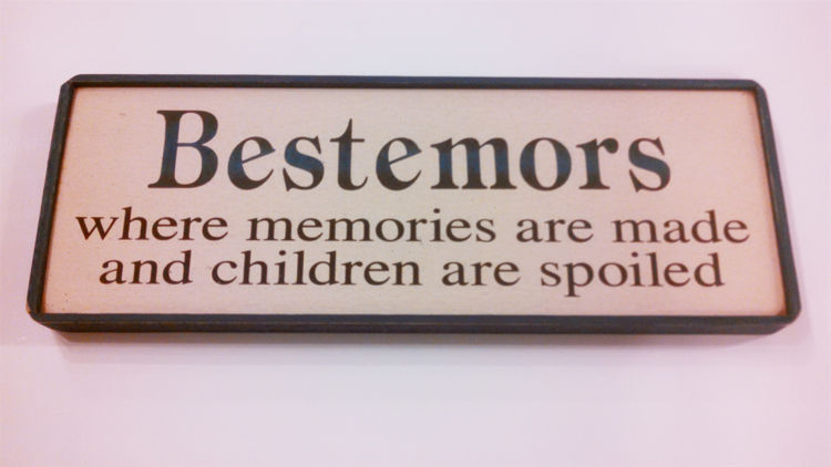 Picture of Bestemors, Wooden Sign