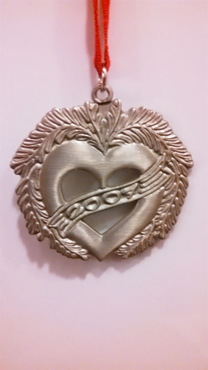 Picture of Swedish Pewter 2007 Heart Ornament