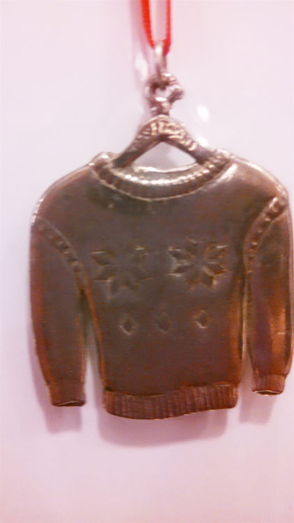 Picture of Norwegian Pewter Sweater Ornament