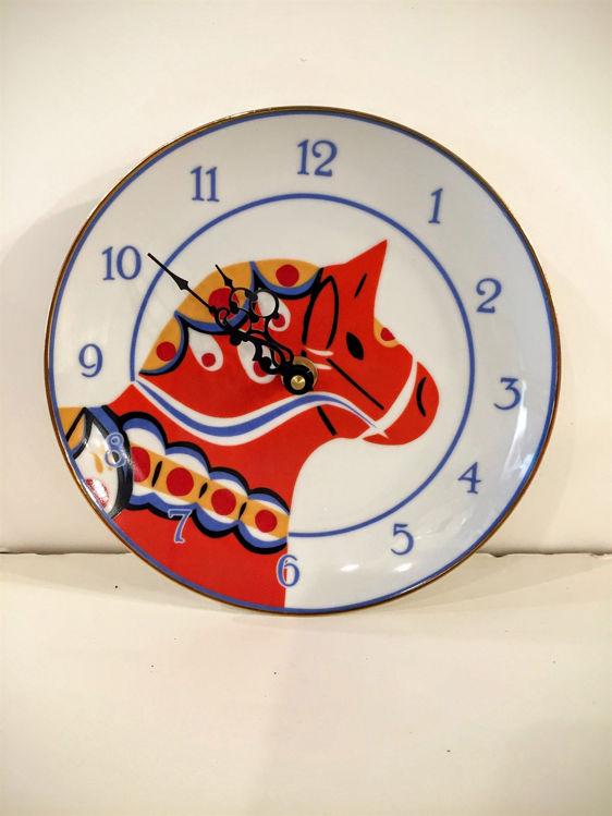 Picture of Dala Horse Ceramic Plate Clock