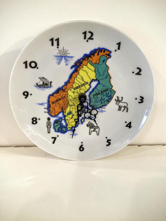 Picture of Scandinavia Ceramic Plate Clock