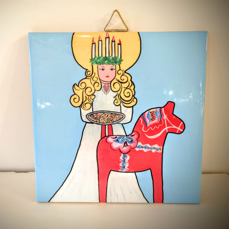 Picture of St.Lucia with Dala Ceramic Tile