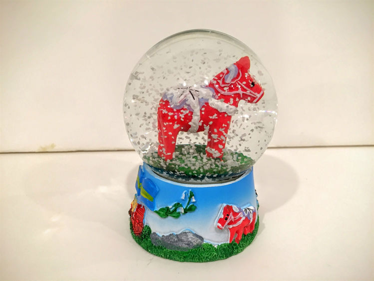 Picture of Dala Horse Snow Globes