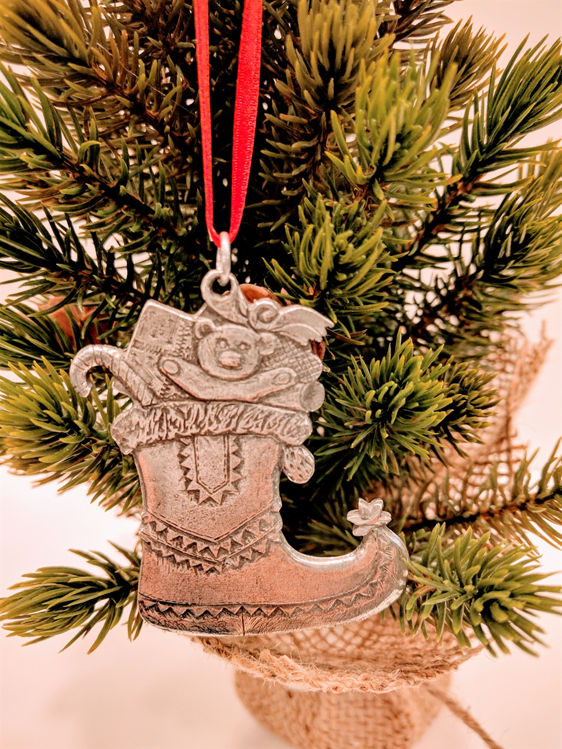 Picture of Norwegian Pewter Stocking Ornament