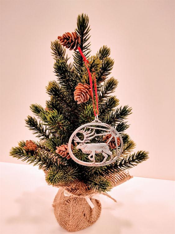 Picture of Norwegian Pewter Reindeer Ornament