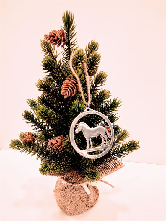 Picture of Norwegian Pewter Fjord Horse Ornament