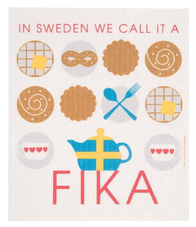 """Picture of Swedish Dishcloth """"Fika"""""""