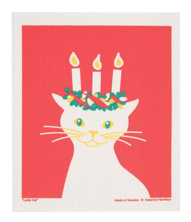 "Picture of Swedish Dishcloth ""Lucia Cat"""